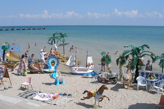 Центральный городской пляж - достопримечательности Евпатории