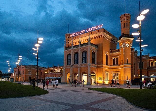 Железнодорожный вокзал - достопримечательности Вроцлава