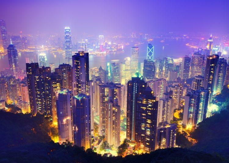 Небесная линия Гонконга в Китае