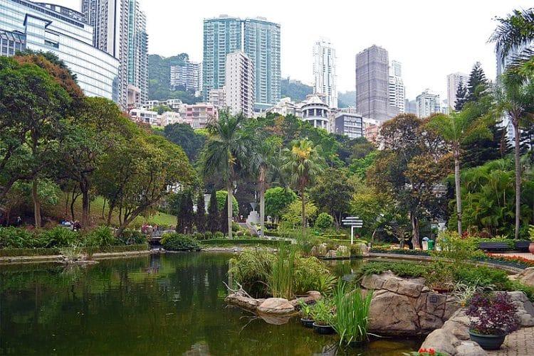 Гонконгский парк (Центральном район) в Китае
