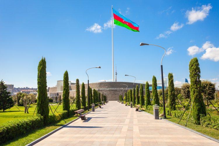 Площадь государственного флага в Азербайджане