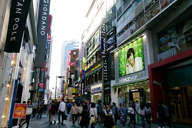 Улица Мёндон в Южной Корее