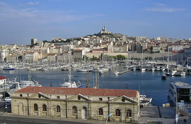 Старый порт Марселя во Франции