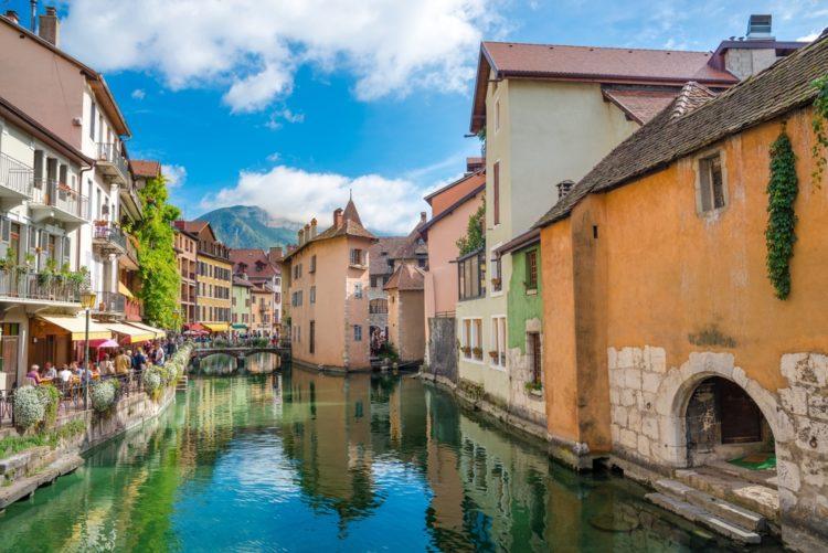 Город Анси во Франции