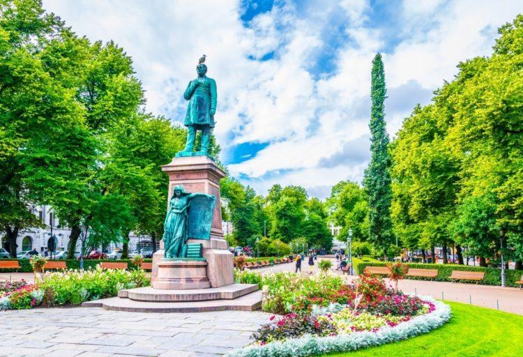 Парк Эспланады в Финляндии