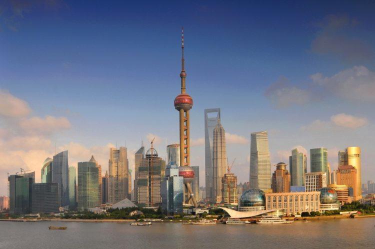 Новый район Пудун в Китае