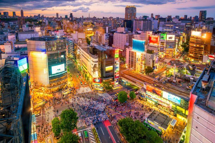 Район Сибуя в Токио