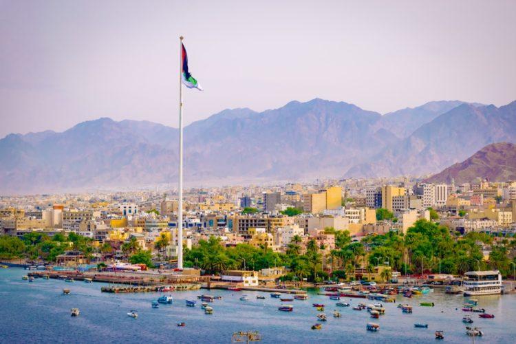 Город Акаба в Иордании