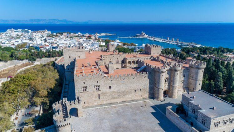Средневековый город Родос в Греции