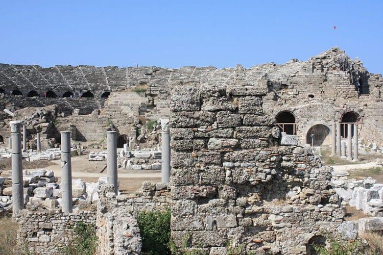 Древний город Сиде в Турции
