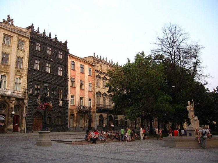 Старый город Львова на Украине