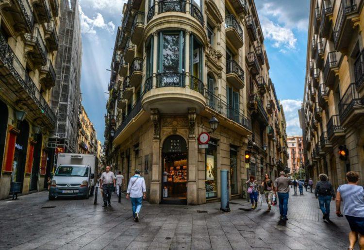 Готический квартал в Испании