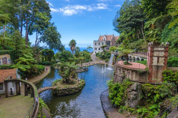 Тропический сад Монте в Португалии