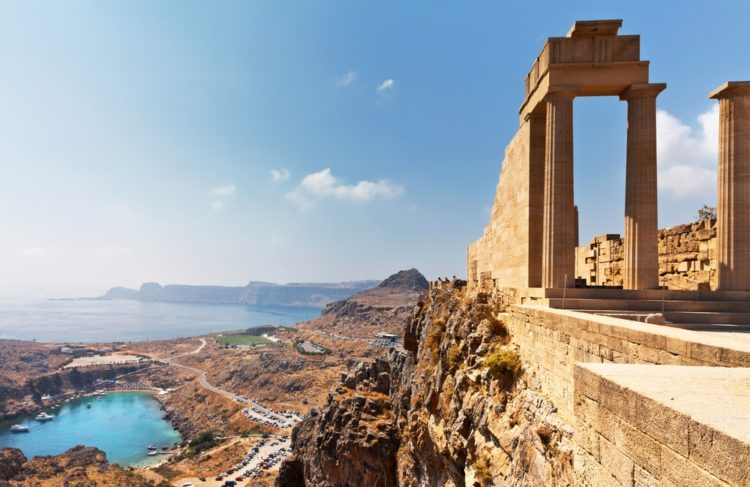 Акрополь Линдоса в Греции