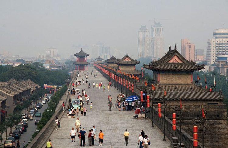 Городская стена в Китае