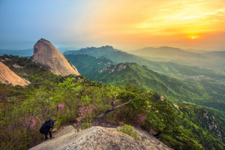 Национальный парк Букхансан в Южной Корее