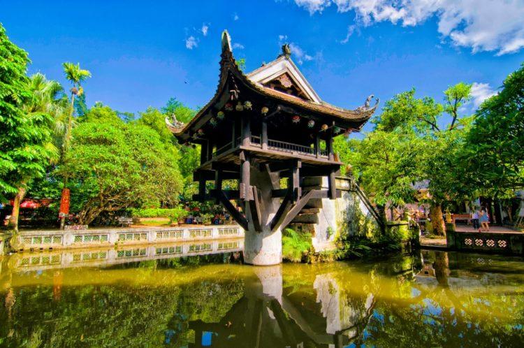 Пагода на одном столбе во Вьетнаме