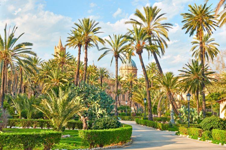 Парк Villa Bonanno в Италии