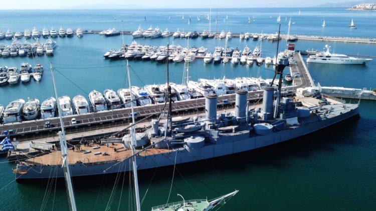 Броненосный крейсер «Георгиос Авероф» в Греции