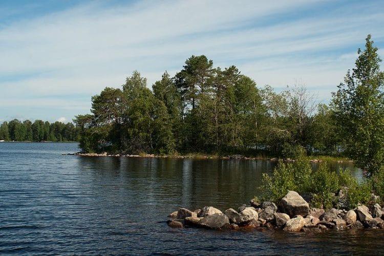 Озеро Оулуярви в Финляндии