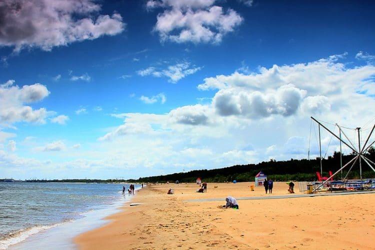 Пляж Елитково - достопримечательности Гданьска