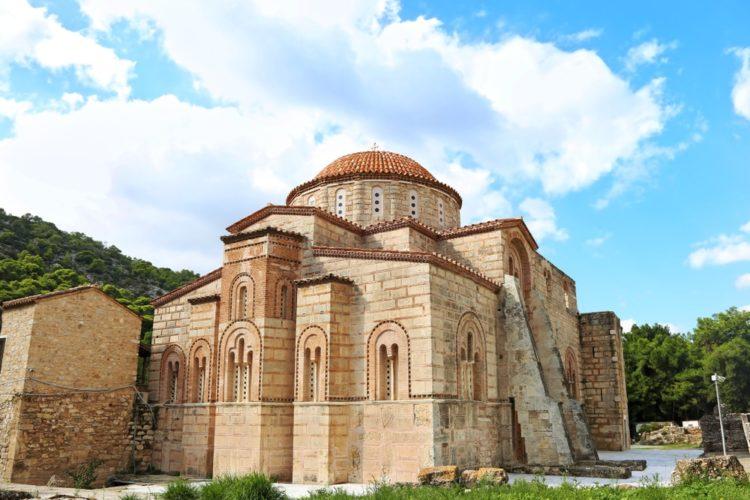 Монастырь Дафни в Греции