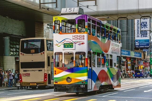 Гонконгский трамвай в Китае