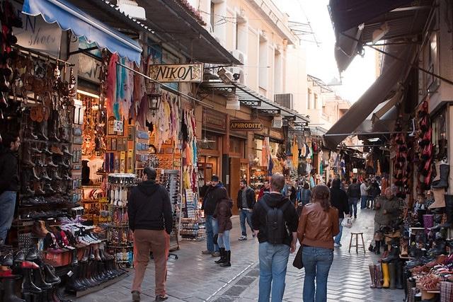 Рынок Монастираки в Греции