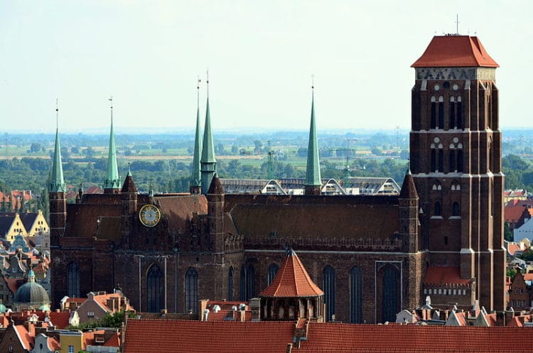 Костёл Святой Марии - достопримечательности Гданьска