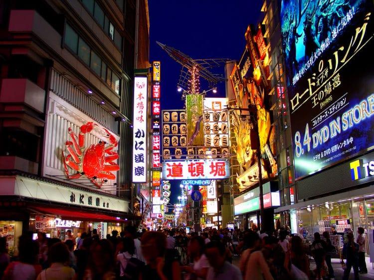 Улица Дотонбори в Токио