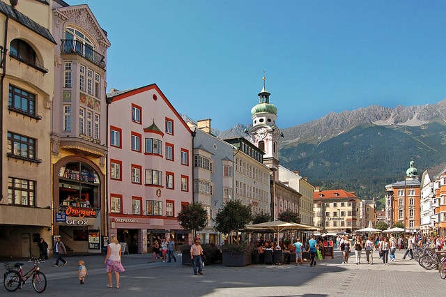 Улица Марии-Терезии - достопримечательности Инсбрука